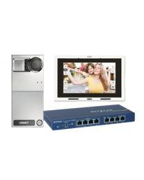 IPerCom-Einfamilienset mit Sinthesi Steel Torstelle und MAX-Monitor