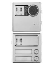 IP-Torstelle  Sinthesi Steel mit 1 Taste und Farbkamera
