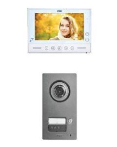 2-Draht Video Color-Einfamilienset inklusive Videospeicher und Zutrittskontrolle