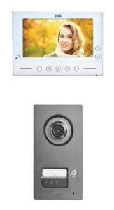 2-Draht Video Color-Zweifamilienset inklusive Videospeicher und Zutrittskontrolle