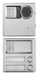IP-Torstelle Sinthesi Steel mit 2 Tasten und Farbkamera