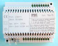Netzgerät für internen Sprechverkehr, Umschaltung für 2 Torstellen